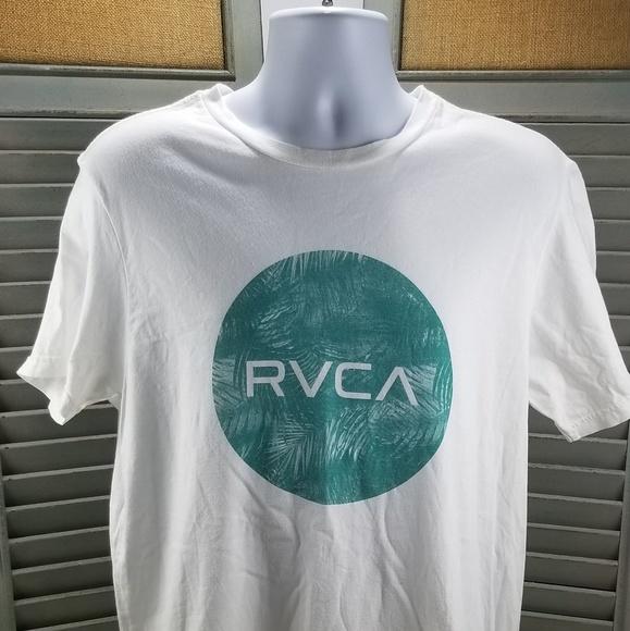 974a0a05 RVCA Shirts | White Tee Size Large | Poshmark